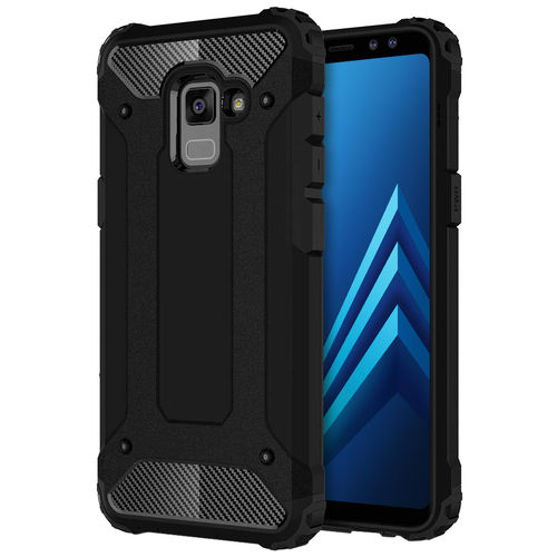 Military Defender Shockproof Case for Samsung Galaxy A8 (2018) - Black